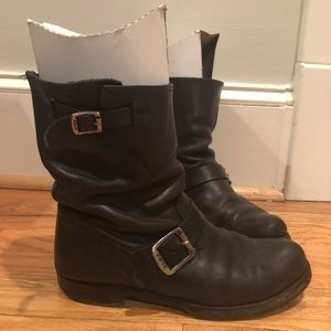 Black Frye Engineer Boots